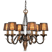 Epicurean 6 Light 29 inch Charred Iron Chandelier Ceiling Light