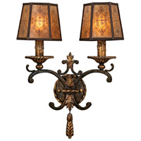 Fine Art Lamps Epicurean 2 Light Sconce in Charred Iron 406950ST