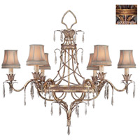 Fine Art Lamps 407040-2ST Pastiche 6 Light 42 inch Gold Chandelier Ceiling Light