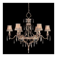 Fine Art Lamps Pastiche 6 Light Chandelier in Warm Silver Leaf 407040-1ST