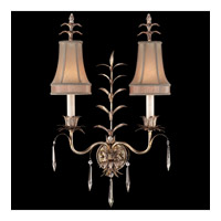 Fine Art Lamps Pastiche 2 Light Sconce in Warm Silver Leaf 409050-1ST