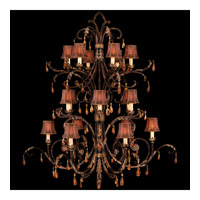 Brighton Pavillion 18 Light 55 inch Bronzed Sienna Chandelier Ceiling Light