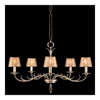 Fine Art Lamps 418740ST Portobello Road 5 Light 35 inch Platinized Silver Chandelier Ceiling Light photo thumbnail
