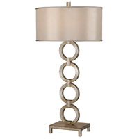 Portobello Road 38 inch 150 watt Silver Table Lamp Portable Light