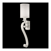 Fine Art Lamps Black + White Story 1 Light Sconce in Studio White Satin Lacquer 420550-5ST