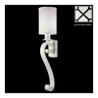 Fine Art Lamps Black and White Story 1 Light Sconce in Black Satin Lacquer 420550-6ST