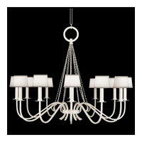 Fine Art Lamps Black and White Story 12 Light Chandelier in Studio White Satin Lacquer 420840-5ST