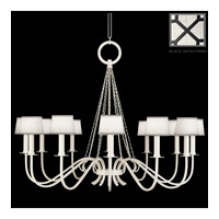 Fine Art Lamps Black and White Story 12 Light Chandelier in Black Satin Lacquer 420840-6ST