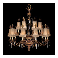 Fine Art Lamps Pastiche 16 Light Chandelier in Platinized Gold 428040ST