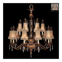 Pastiche 16 Light 48 inch Warm Silver Leaf Chandelier Ceiling Light