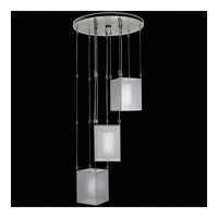 Fine Art Lamps Quadralli 3 Light Drop Light in Silver Leaf 435740-2ST