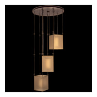 Fine Art Lamps Quadralli 3 Light Drop Light in Rich Bourbon 435740ST