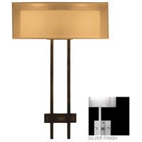 Fine Art Lamps Quadralli 2 Light Sconce in Silver Leaf 436450-2ST photo thumbnail