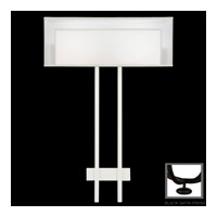 Fine Art Lamps Black and White Story 2 Light Sconce in Black Satin Lacquer 436450-6ST
