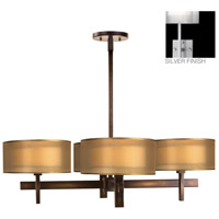 Fine Art Lamps Quadralli 4 Light Chandelier in Silver Leaf 436540-2ST