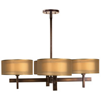 Fine Art Lamps Quadralli 4 Light Chandelier in Rich Bourbon 436540ST