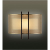 Fine Art Lamps 437150ST Quadralli 1 Light 14 inch Rich Bourbon Coupe Wall Light photo thumbnail