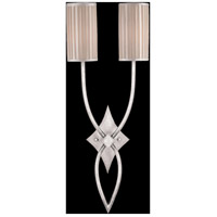 Fine Art Lamps Portobello Road 2 Light Sconce in Platinized Silver 437450ST