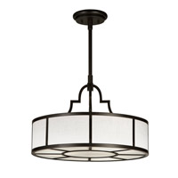 Fine Art Lamps Black and White Story 3 Light Pendant in Black Satin Lacquer 438540-6ST