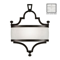 Fine Art Lamps Black + White Story 1 Light Coupe in Studio White Satin Lacquer 440250-5ST