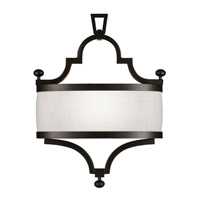 Fine Art Lamps Black and White Story 1 Light Coupe in Black Satin Lacquer 440250-6ST