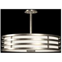 Portobello Road 3 Light 34 inch Silver Pendant Ceiling Light