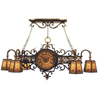 Epicurean 7 Light 57 inch Charred Iron Island Fixture Ceiling Light