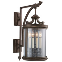 Fine Art Lamps Louvre 4 Light Outdoor Wall Mount in Fine Bronze 538481ST