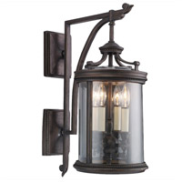 Louvre 4 Light 25 inch Fine Bronze Outdoor Wall Mount