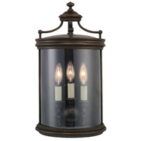 Louvre 3 Light 20 inch Fine Bronze Outdoor Coupe