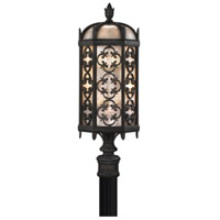 Fine Art Lamps Costa del Sol 3 Light Outdoor Post Mount in Marbella Wrought Iron 541480ST