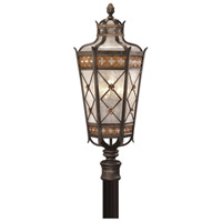 Chateau Outdoor 5 Light 32 inch Umber Patina w/ Gold Accents Outdoor Post Mount