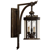 Fine Art Lamps 542281ST Louvre 2 Light 22 inch Bronze Outdoor Wall Sconce