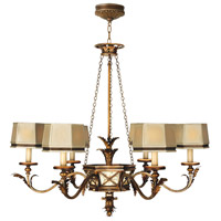Newport 6 Light 43 inch Rustic Burnished Gold w/ Silver Highlights Chandelier Ceiling Light