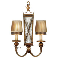 Fine Art Lamps Newport 2 Light Sconce in Rustic Burnished Gold w/ Silver Highlights 548250ST