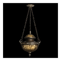 Brazilian 1 Light 18 inch Brown Patina and Prata Antiga Silver Accents Pendant Ceiling Light