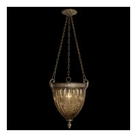Brazilian 1 Light 16 inch Brown Patina and Prata Antiga Silver Accents Pendant Ceiling Light