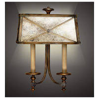 Fine Art Lamps Newport 2 Light Sconce in Rustic Burnished Gold w/ Silver Highlights 563250ST