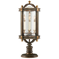 Beekman Place 5 Light 30 inch Weathered Woodland Brown Outdoor Adjustable Pier/Post Mount