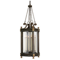 Fine Art Lamps Beekman Place 5 Light Outdoor Lantern in Weathered Woodland Brown 564382ST