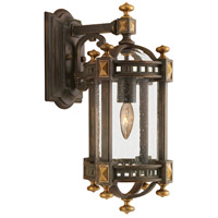 Fine Art Lamps Beekman Place 1 Light Outdoor Wall Mount in Weathered Woodland Brown 564581ST