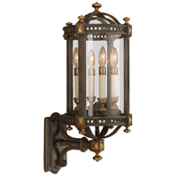 Beekman Place 4 Light 28 inch Weathered Woodland Brown Outdoor Wall Mount