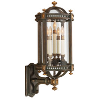 Beekman Place 5 Light 32 inch Weathered Woodland Brown Outdoor Wall Mount