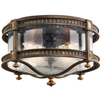 Fine Art Lamps Beekman Place 4 Light Outdoor Flush Mount in Weathered Woodland Brown 564982ST photo thumbnail