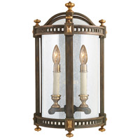 Fine Art Lamps Beekman Place 2 Light Outdoor Coupe in Weathered Woodland Brown 565081ST