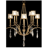 Monte Carlo 8 Light 40 inch Gently Worn Gold Leaf Chandelier Ceiling Light