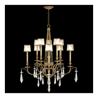 Fine Art Lamps Monte Carlo 10 Light Chandelier in Gently Worn Gold Leaf 567640ST