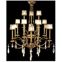 Fine Art Lamps Monte Carlo 15 Light Chandelier in Gently Worn Gold Leaf 567740ST