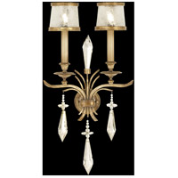 Monte Carlo 2 Light 15 inch Gently Worn Gold Leaf Sconce Wall Light