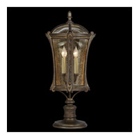 Fine Art Lamps Gramercy Park 4 Light Outdoor Adjustable Pier/Post Mount in Aged Antique Gold 574480ST